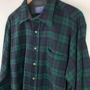 Pendleton Shirts - Pendleton Black Watch Tartan Plaid Wool Shirt XL
